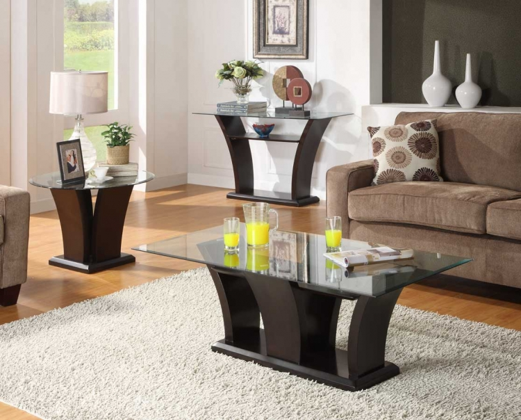 Black 3 Piece Living Room Table Set