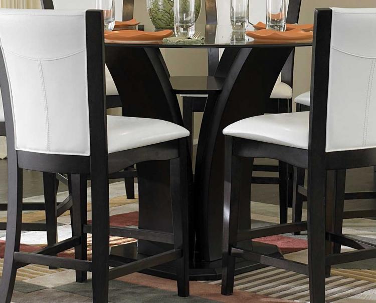 Homelegance Daisy Round Counter Height Table Glass Top 710 36rd Homelegance Elegancefurnituredirect Com