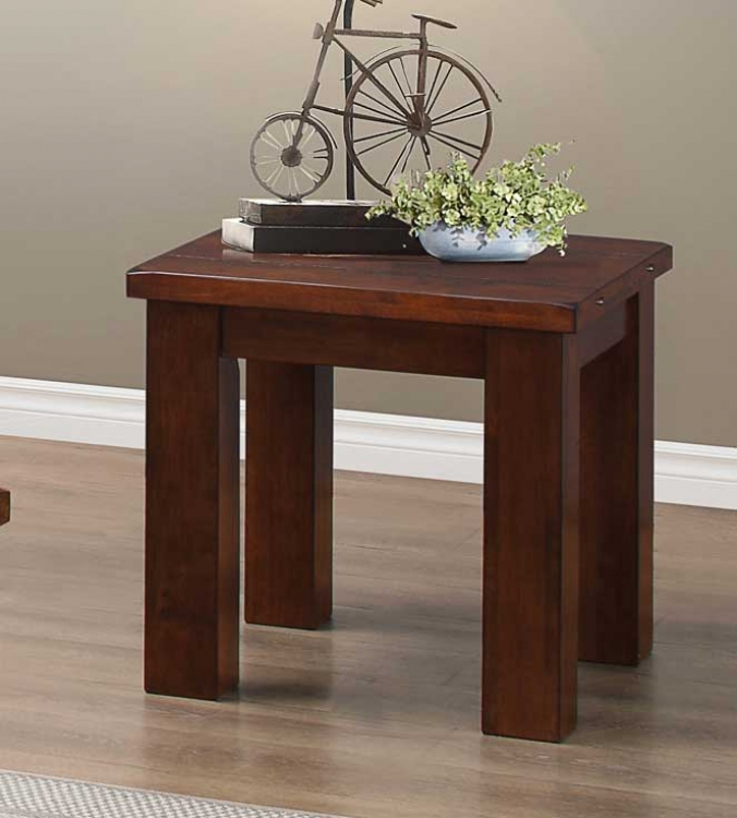 Santos End Table - Natural Brown