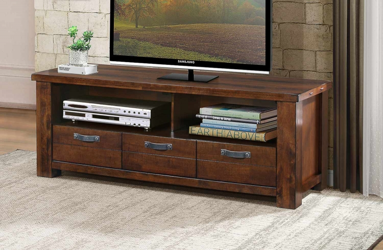 Santos 58-inch TV Stand - Natural Brown