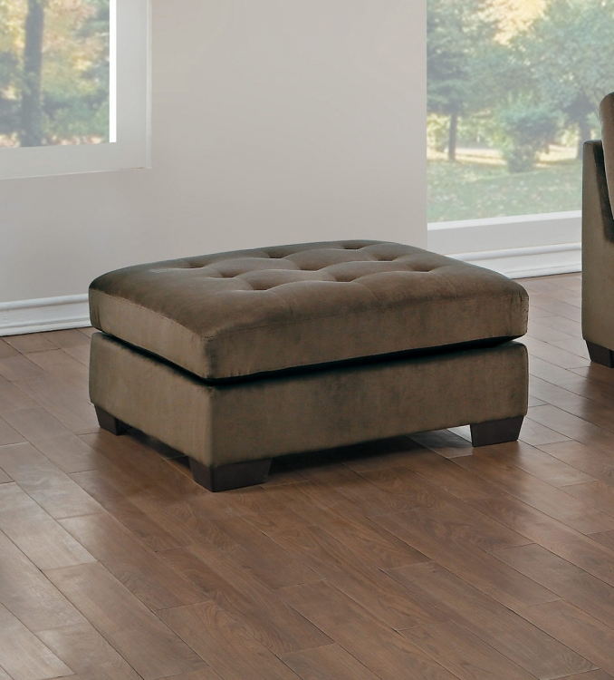 Savarin Ottoman - Dark Brown