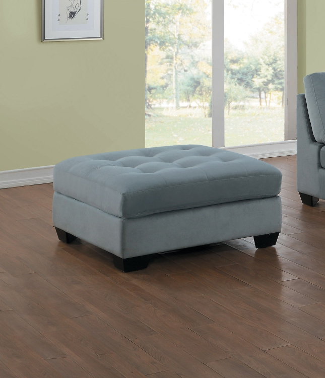 Savarin Ottoman - Light Gray Fabric