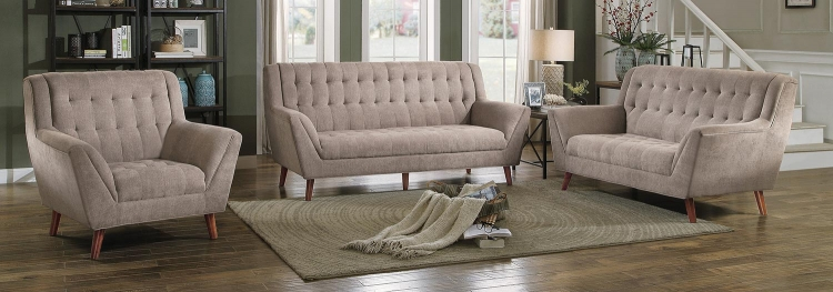 Erath Sofa Set - Sand Fabric