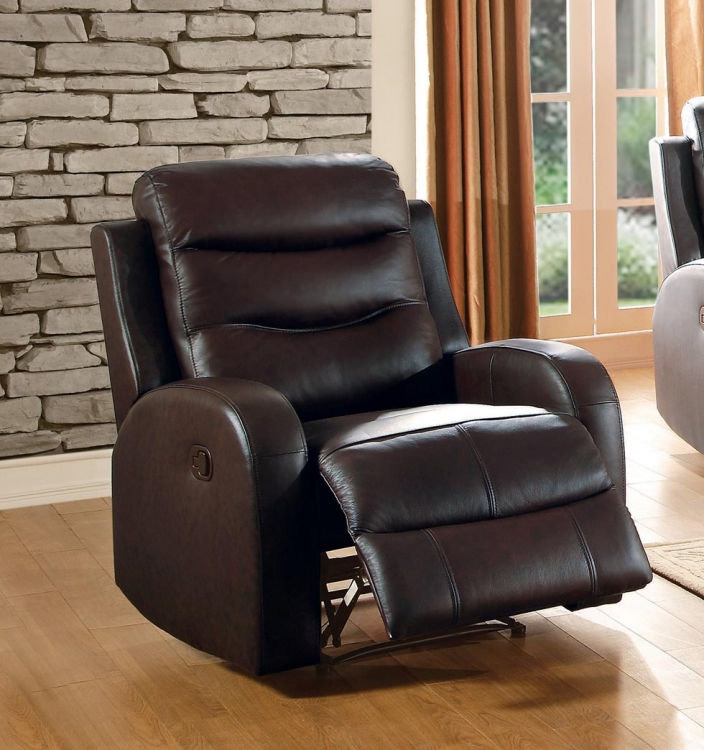 Coppins Reclining Chair - Top Grain Leather Match - Chocolate