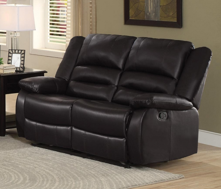 Jarita Double Reclining Love Seat - Bi-Cast Vinyl - Brown