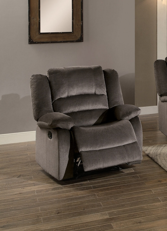Jarita Reclining Chair - Chocolate Fabric