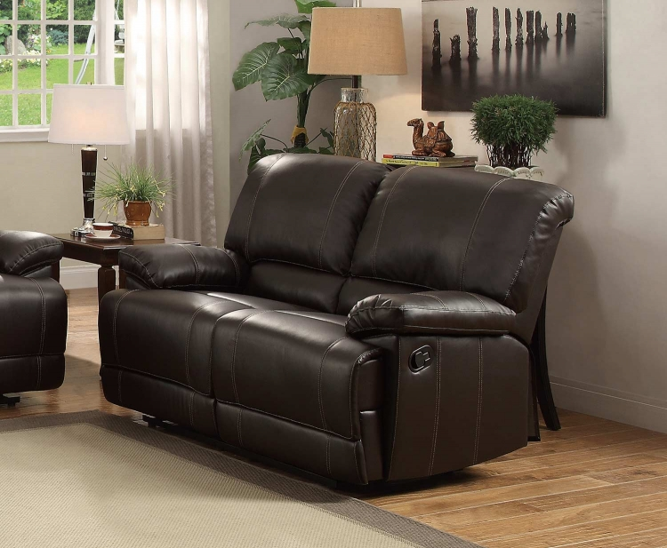 Cassville Double Reclining Love Seat - Dark Brown