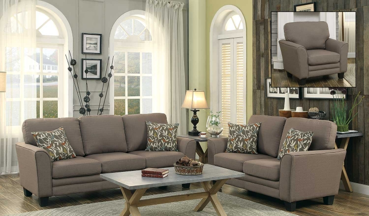 Adair Sofa Set - Grey