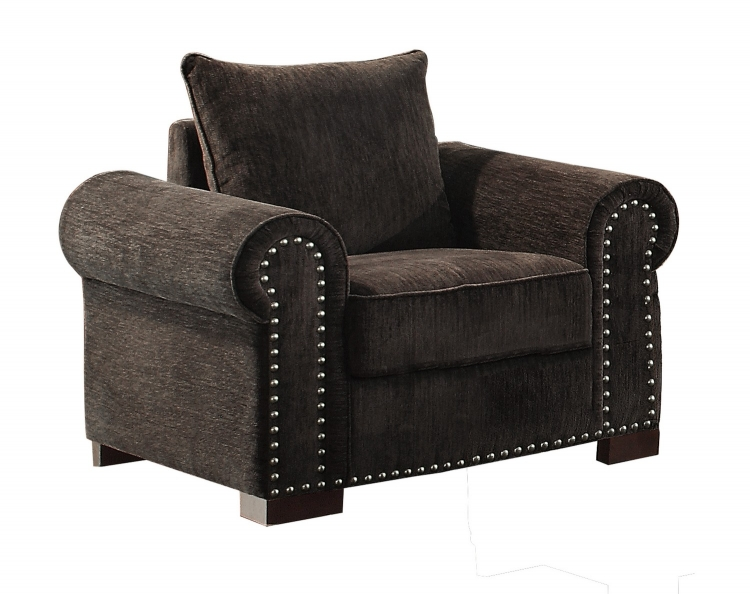 Wandal Chair - Chenille - Chocolate