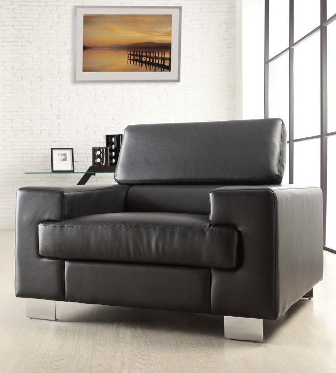 Vernon Chair - Black - Bonded Leather