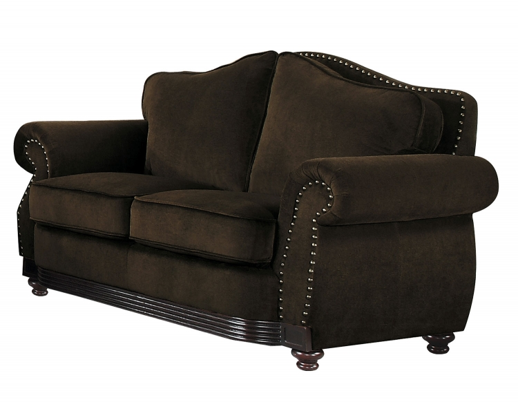 Midwood Love Seat - Chocolate Chenille