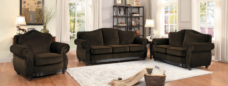 Midwood Sofa Set - Chocolate Chenille