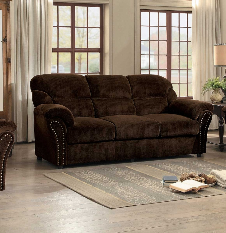 Valentina Sofa - Dark Brown Fabric
