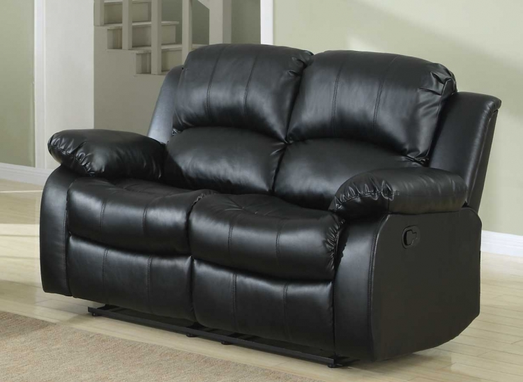 Cranley Double Reclining Love Seat - Black Bonded Leather & Homelegance Cranley Double Reclining Sofa - Brown Bonded Leather ... islam-shia.org