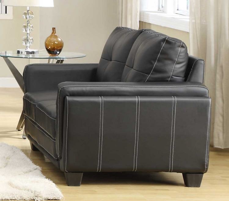 Dwyer Love Seat - Black Bi-Cast