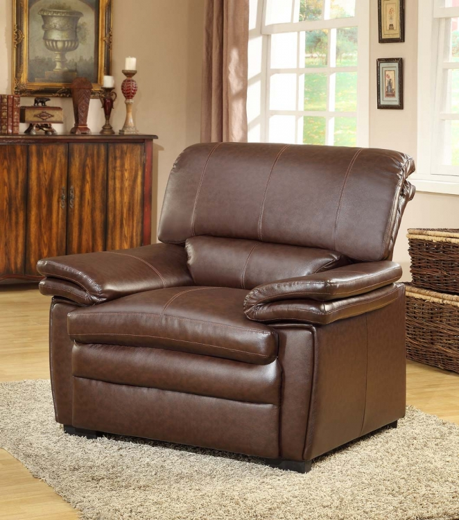 Constance Chair - Brown - Bonded Leather Match