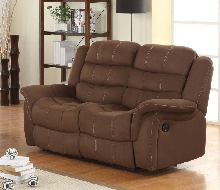 Huxley Love Seat Double Recliner - Chocolate
