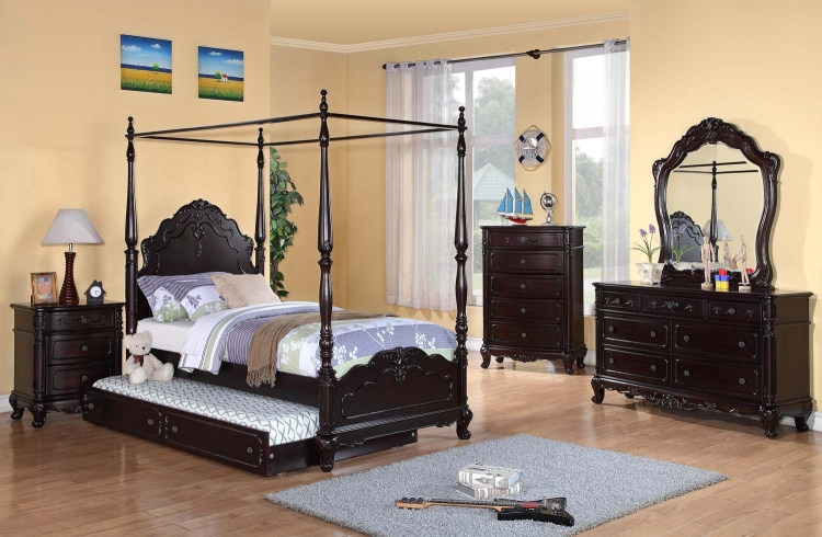 Cinderella Poster Bedroom Set   Dark Cherry. Homelegance Cinderella Bed 1386 1   HomeleganceFurnitureOnline com