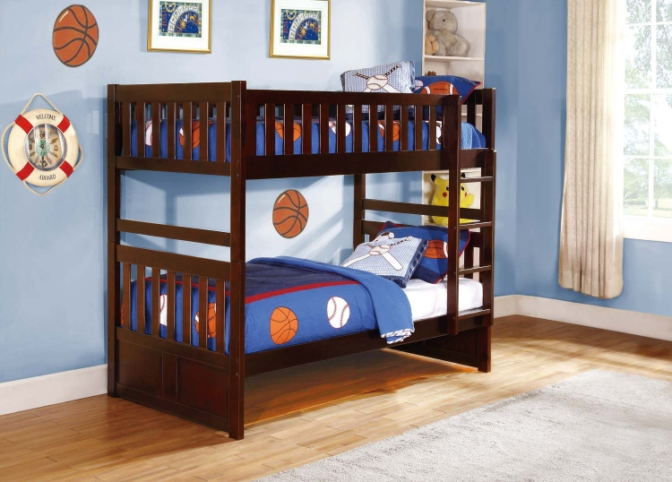 Rowe Twin/Twin Bunkbed - Dark Cherry