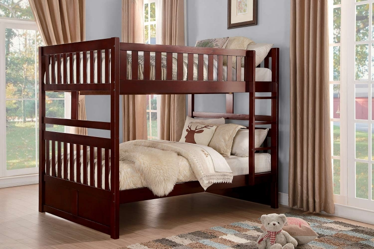 Rowe Full over Full Bunk Bed - Dark Cherry