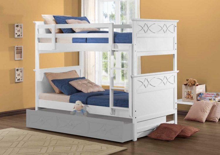 Sanibel Bunk Bed   White. Homelegance Sanibel Bedroom Set   White B2119W Bed Set
