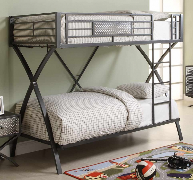 Spaced Out Twin-Twin Bunk Bed