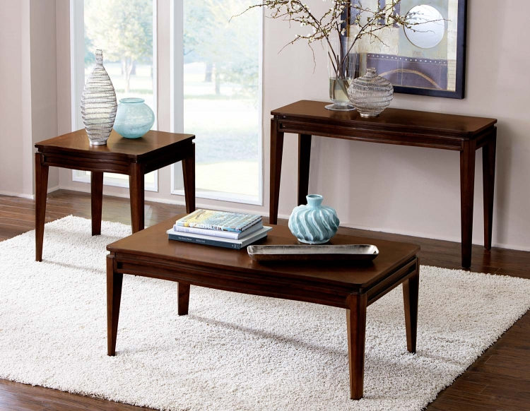 Kasler Occasional Table Set - Medium Walnut