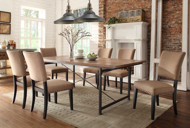 Derry Dining Set - Rustic Oak