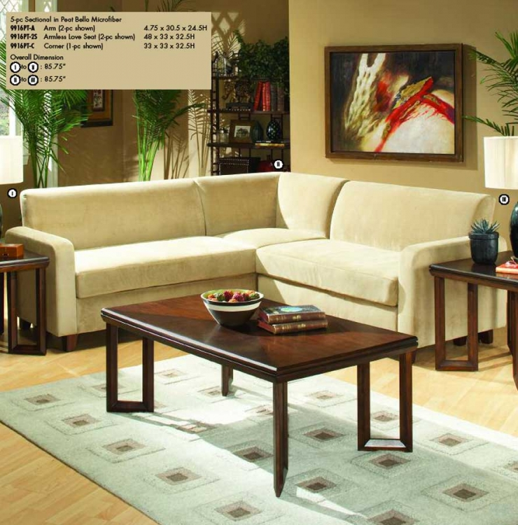 Glengate Sectional in Microfiber