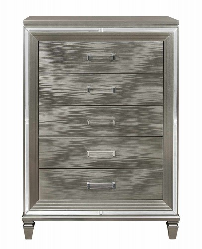 Tamsin Chest - Silver-Gray Metallic