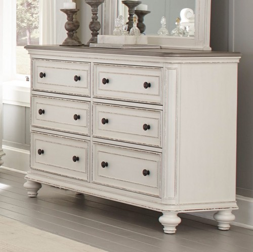 Baylesford Dresser - Antique White Rub-Through Finish