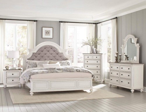 Baylesford Bedroom Set - Antique White Rub-Through Finish