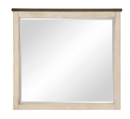 Weaver Mirror - Antique White