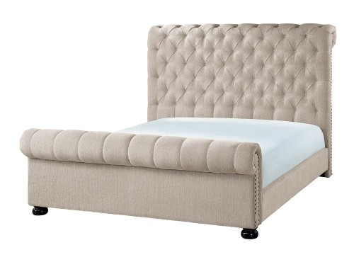 Belfield Tufted Bed - Sand