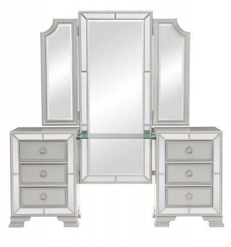 Avondale Vanity Dresser with Mirror - Silver