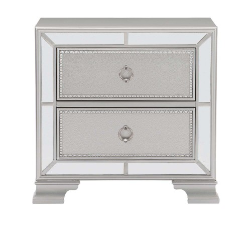 Avondale Night Stand - Silver