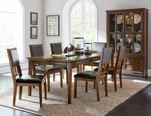 Frazier Dining Set - Brown Cherry