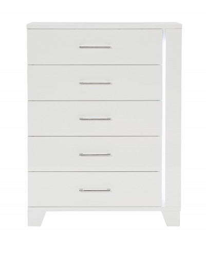 Kerren or Keren Chest with LED Lighting - White High Gloss