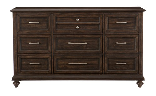 Cardano Dresser - Driftwood Charcoal over Acacia Solids and Veneers