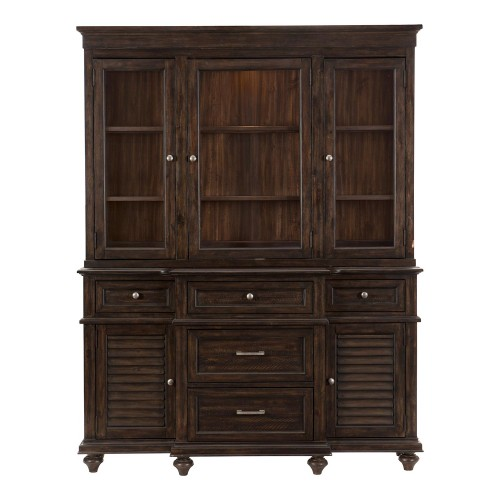 Cardano China Cabinet - Driftwood Charcoal