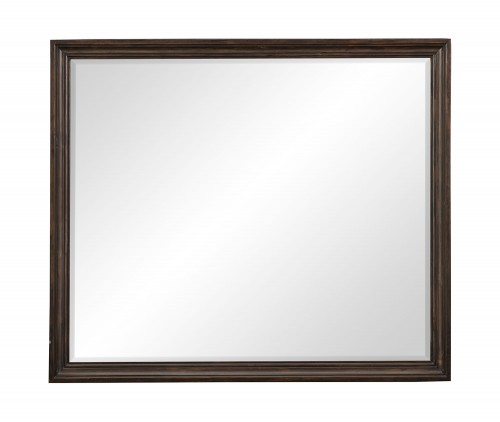 Cardano Mirror - Driftwood Charcoal over Acacia Solids and Veneers