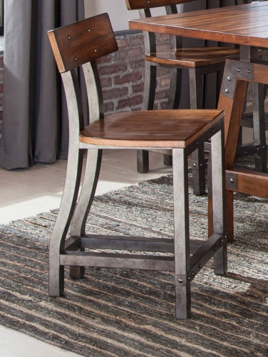 Holverson Counter Height Chair - Rustic Brown
