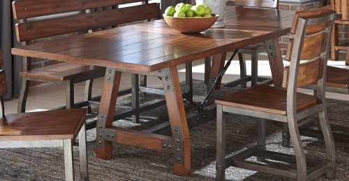 Holverson Dining Table - Rustic Brown