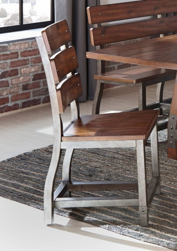Holverson Side Chair - Rustic Brown