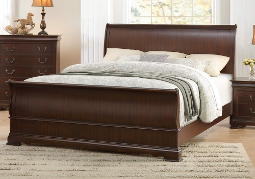 Clematis Sleigh Bed - Cherry