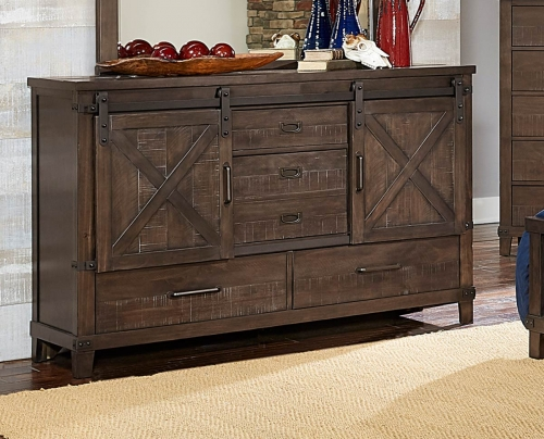 Hill Creek Dresser - Rustic Brown