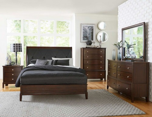 Cotterill Bedroom Set - Cherry over Birch Veneer