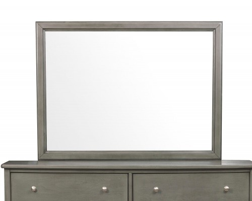 Cotterill Mirror - Gray Finish over Birch Veneer