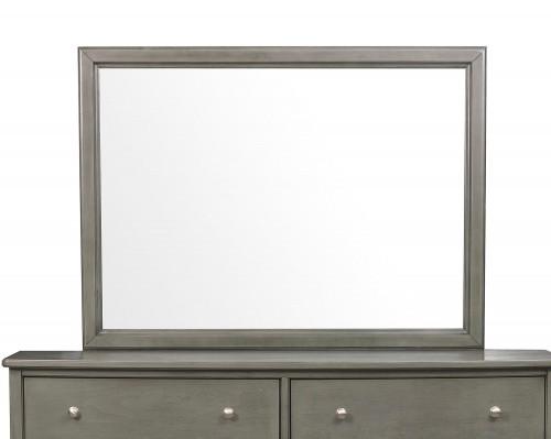 Cotterill Mirror - Gray Finish over Birch Veneer