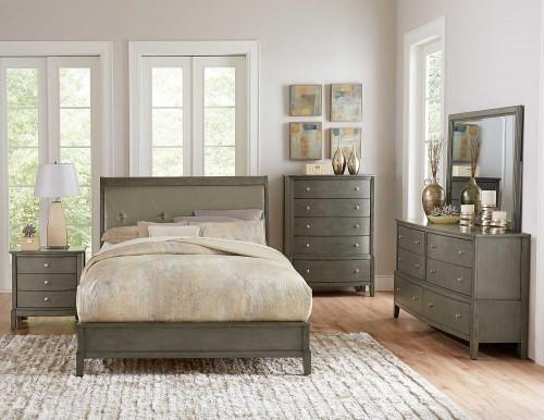 Cotterill Bedroom Set - Gray Finish over Birch Veneer